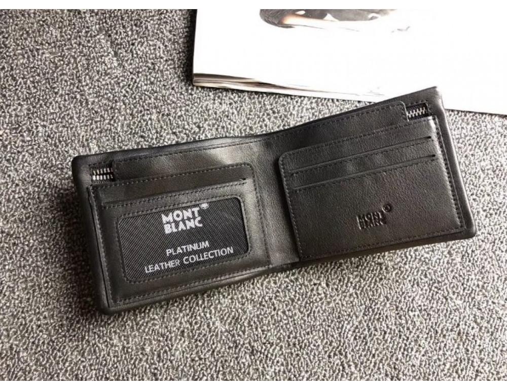 Чёрный кожаный портмоне Montblanc MO-30144 - Фото № 2