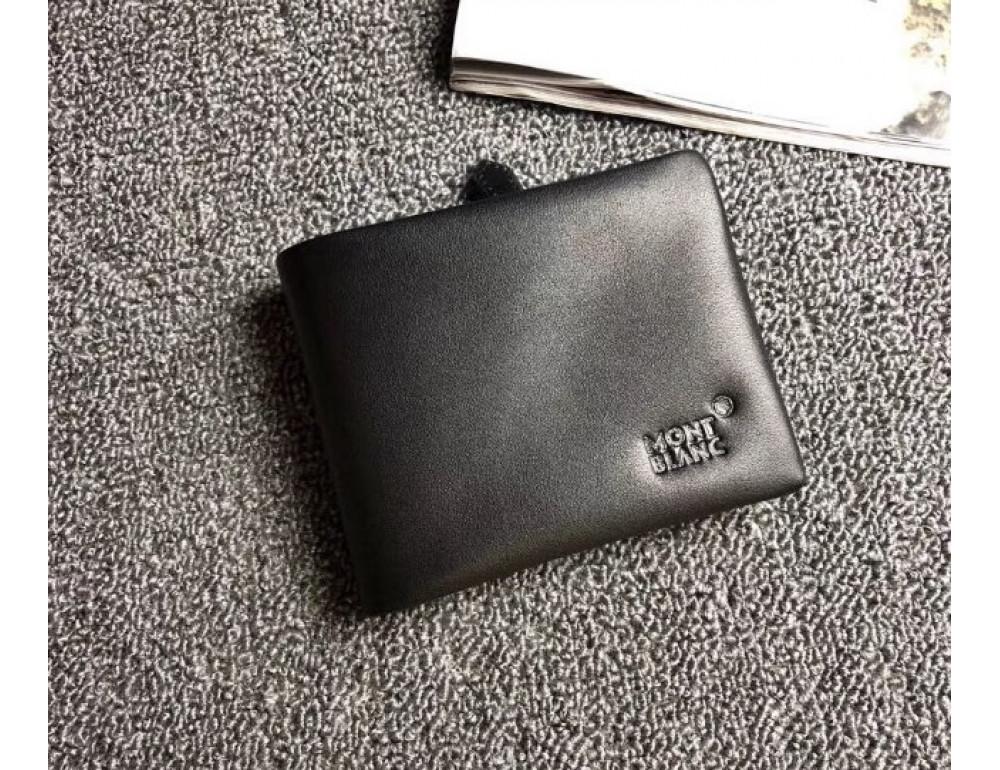Чёрный кожаный портмоне Montblanc MO-30144 - Фото № 1