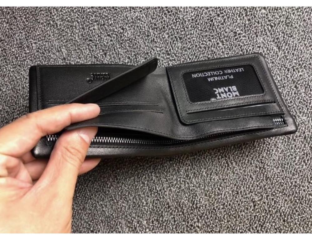 Чёрный кожаный портмоне Montblanc MO-30144 - Фото № 4