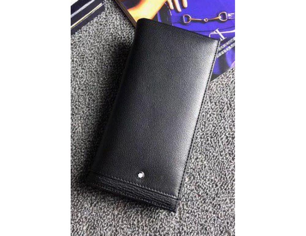 Чёрный кожаный портмоне Montblanc MO-6690-1