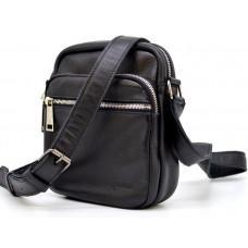 Мужская сумка через плечо кожаная TARWA GA-8086-3md чёрная