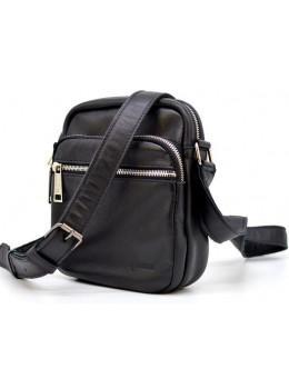 Чоловіча сумка через плече шкіряна TARWA GA-8086-3md чорна