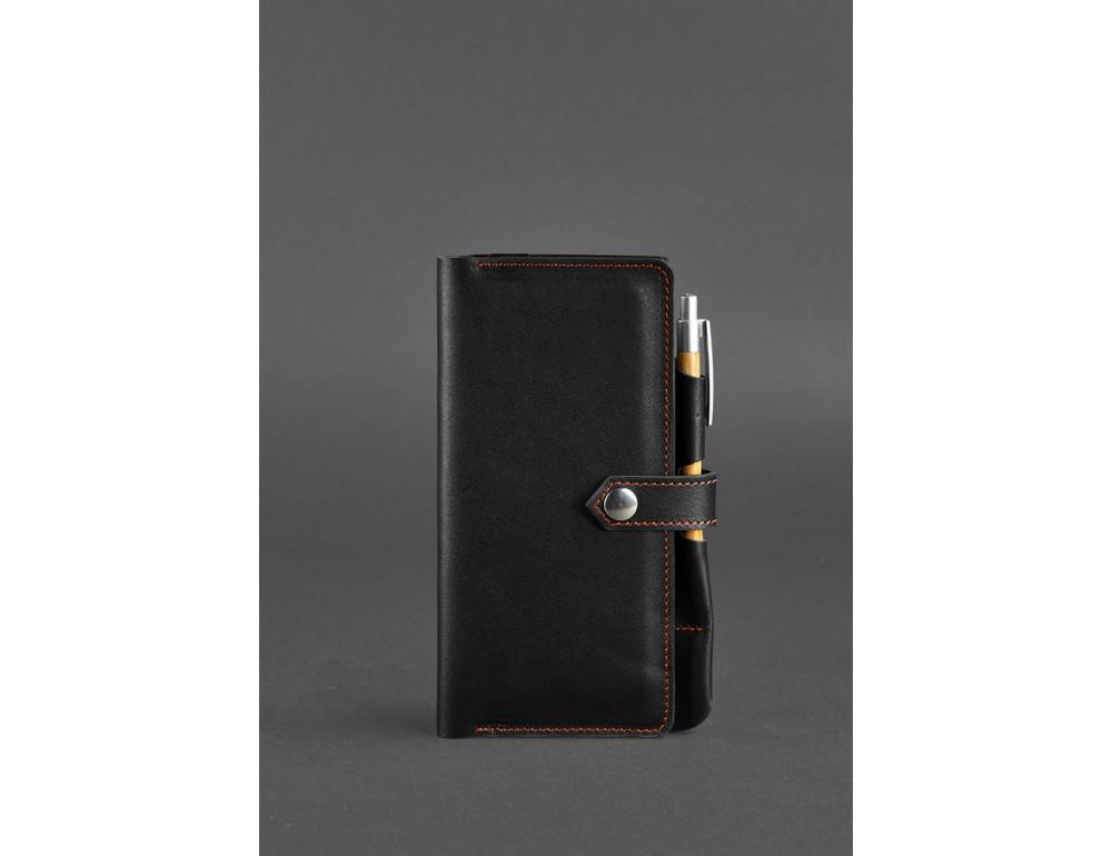 Чёрный кожаный органайзер для документов Blanknote BN-TK-4-G-A - Фото № 1