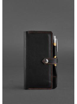 Чёрный кожаный органайзер для документов Blanknote BN-TK-4-G-A