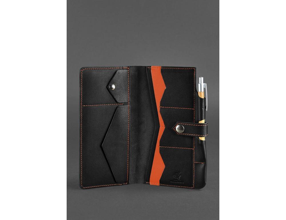 Чёрный кожаный органайзер для документов Blanknote BN-TK-4-G-A - Фото № 3