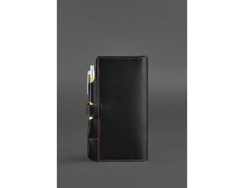 Чёрный кожаный органайзер для документов Blanknote BN-TK-4-G-A - Фото № 4