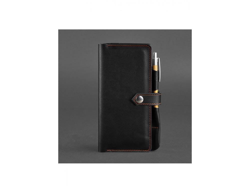 Чёрный кожаный органайзер для документов Blanknote BN-TK-4-G-A - Фото № 5
