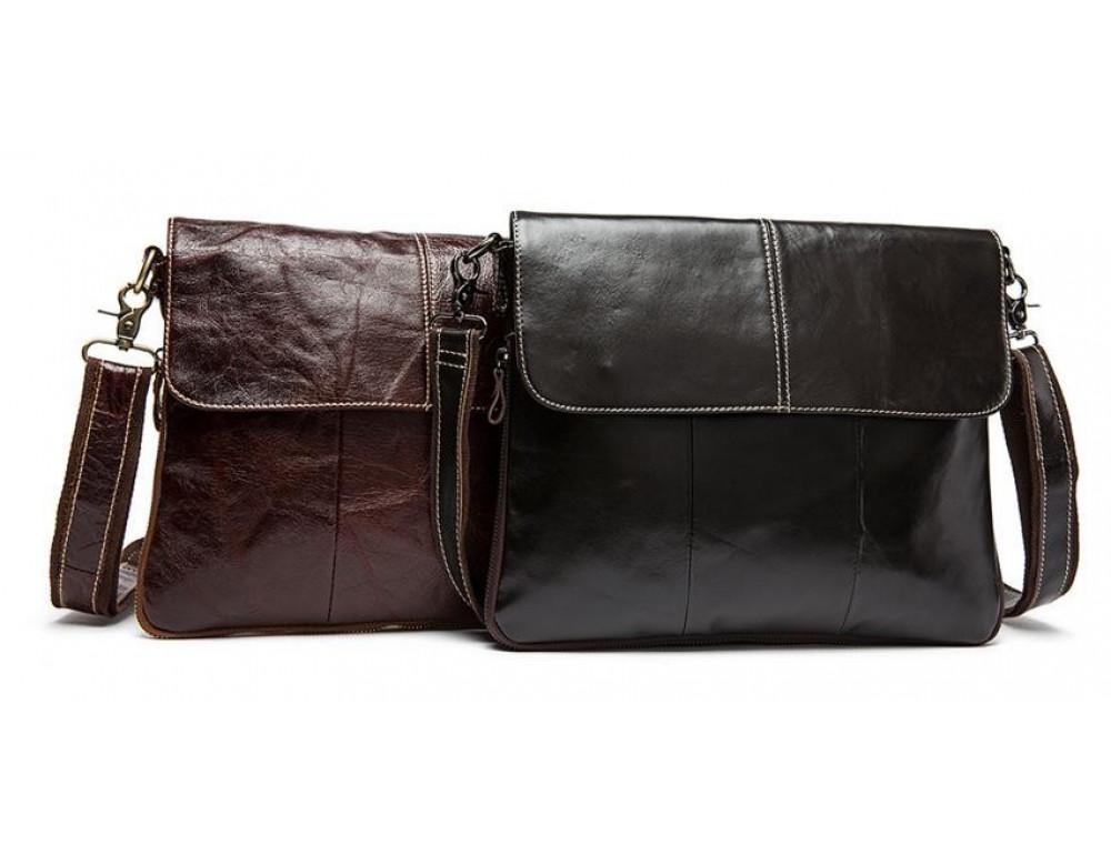 Мужская кожаная сумка через плечо Bexhill Bx8007C - Фото № 11