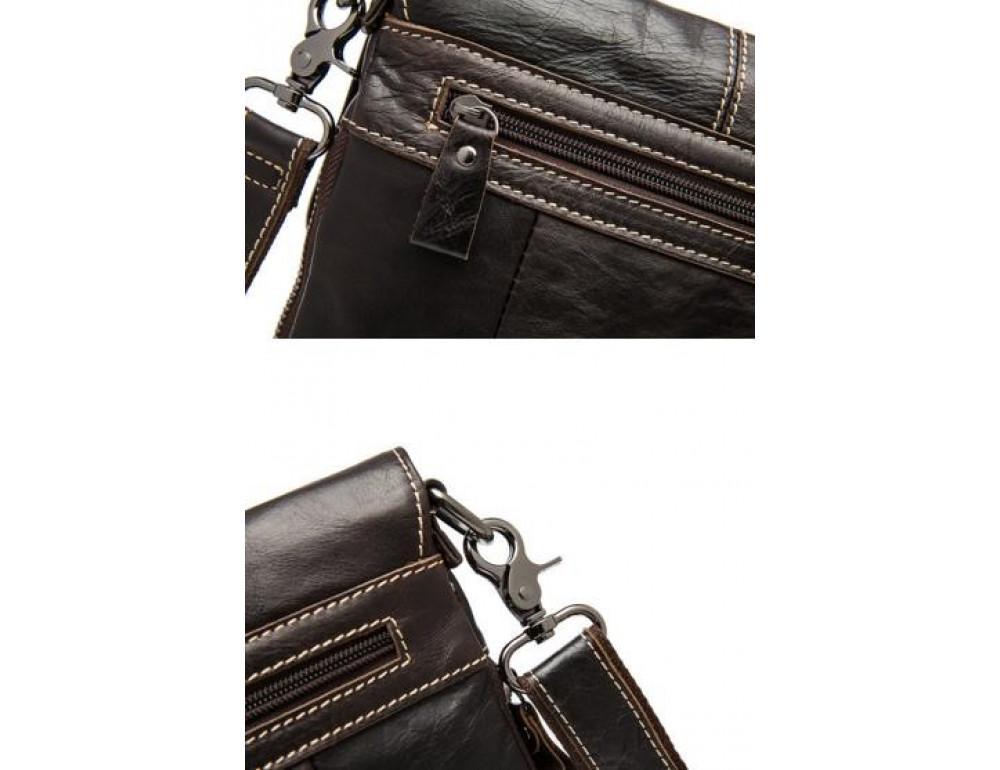 Мужская кожаная сумка через плечо Bexhill Bx8006B - Фото № 7