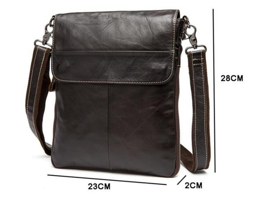 Мужская кожаная сумка-мессенджер Bexhill Bx8008C - Фото № 8