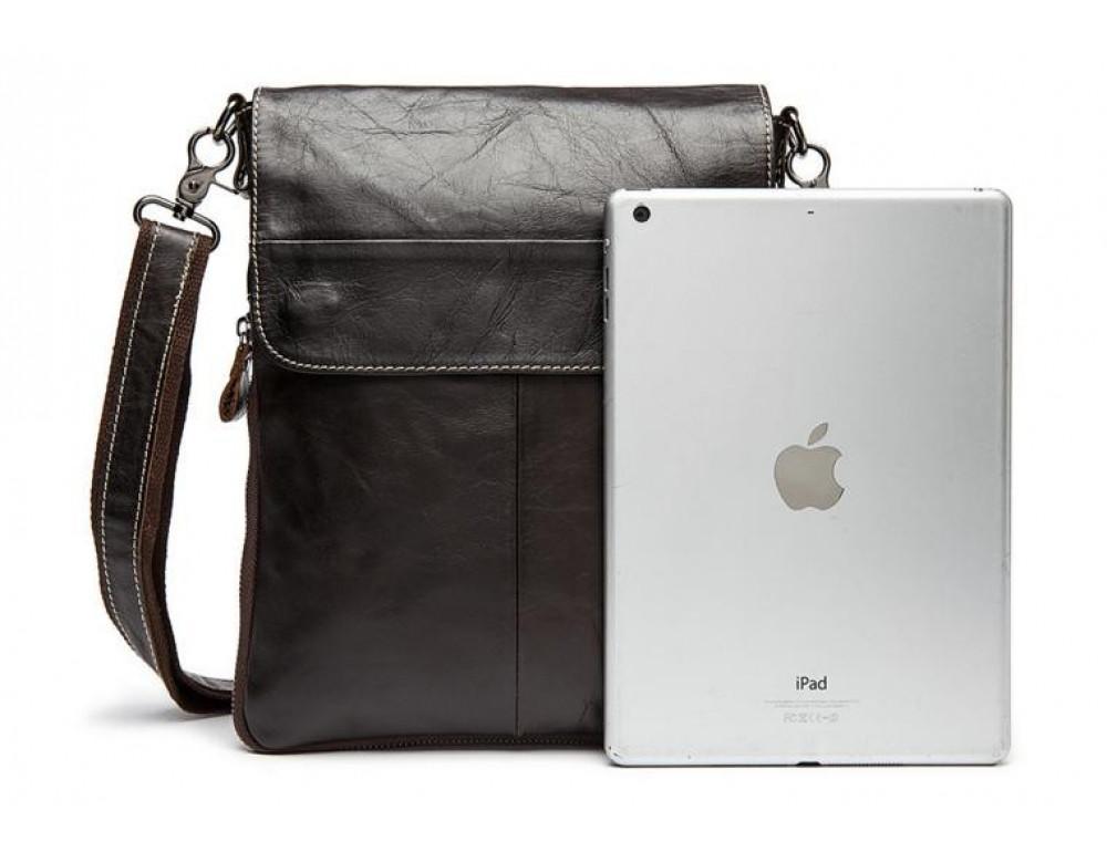 Мужская кожаная сумка-мессенджер Bexhill Bx8008C - Фото № 3