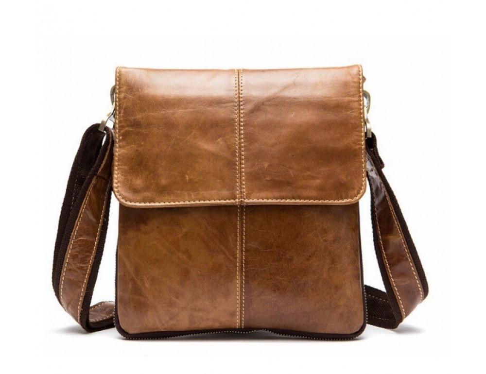 Мужская кожаная сумка-мессенджер Bexhill Bx8006C - Фото № 3