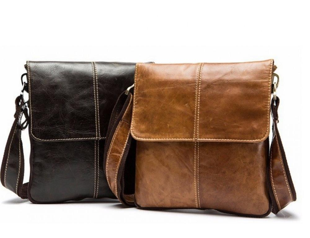 Мужская кожаная сумка-мессенджер Bexhill Bx8006C - Фото № 4