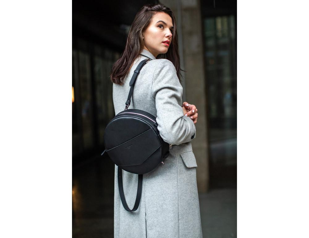 Круглая сумка-рюкзак maxi blanknote BN-BAG-30-g графит - Фото № 2