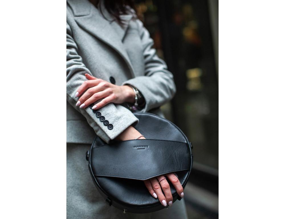 Круглая сумка-рюкзак maxi blanknote BN-BAG-30-g графит - Фото № 3