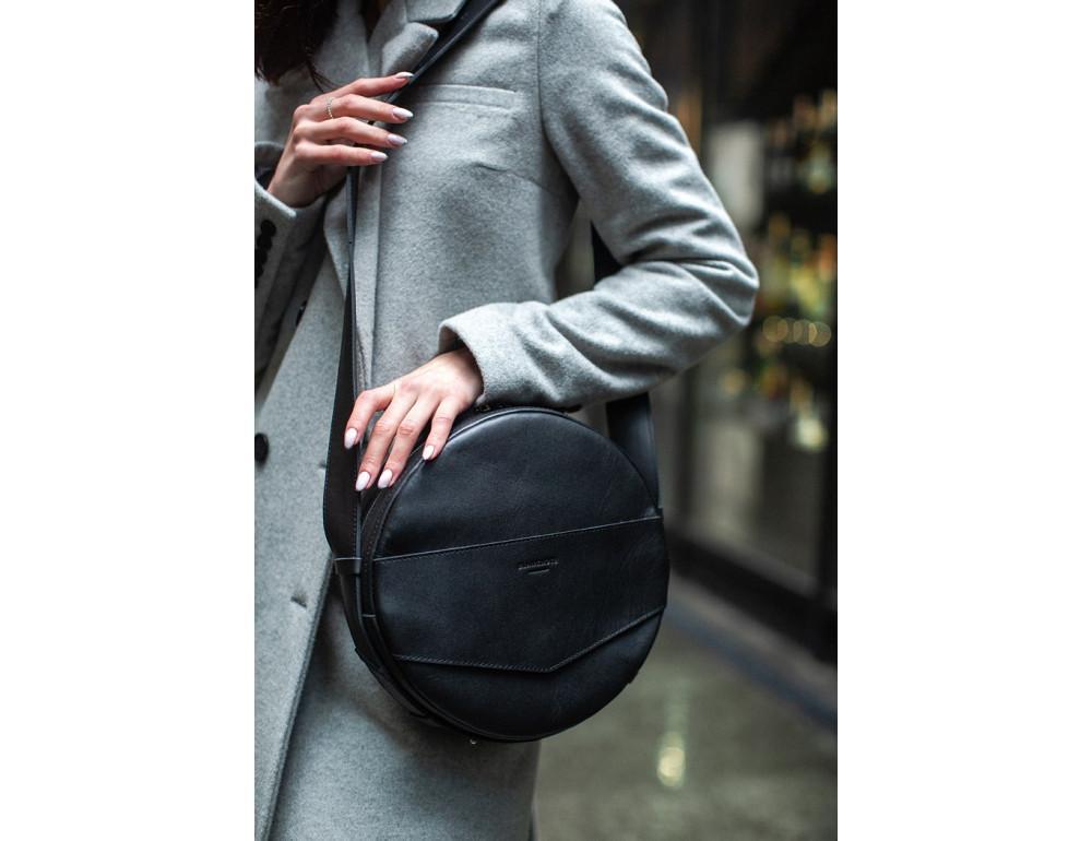 Круглая сумка-рюкзак maxi blanknote BN-BAG-30-g графит - Фото № 4