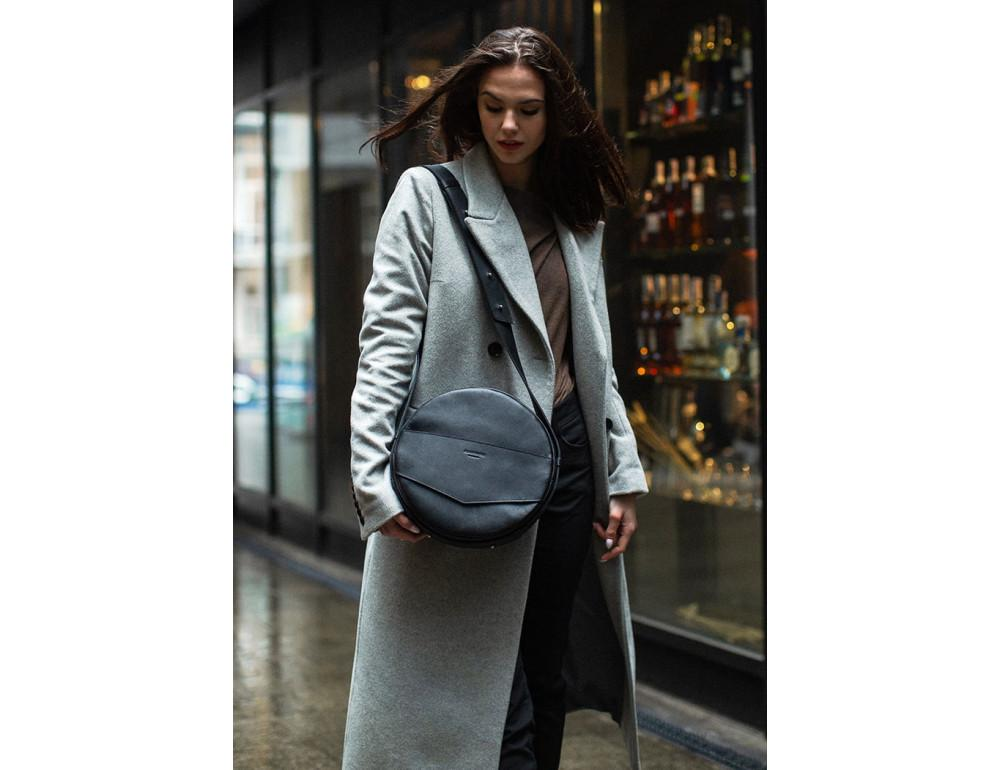 Круглая сумка-рюкзак maxi blanknote BN-BAG-30-g графит - Фото № 5