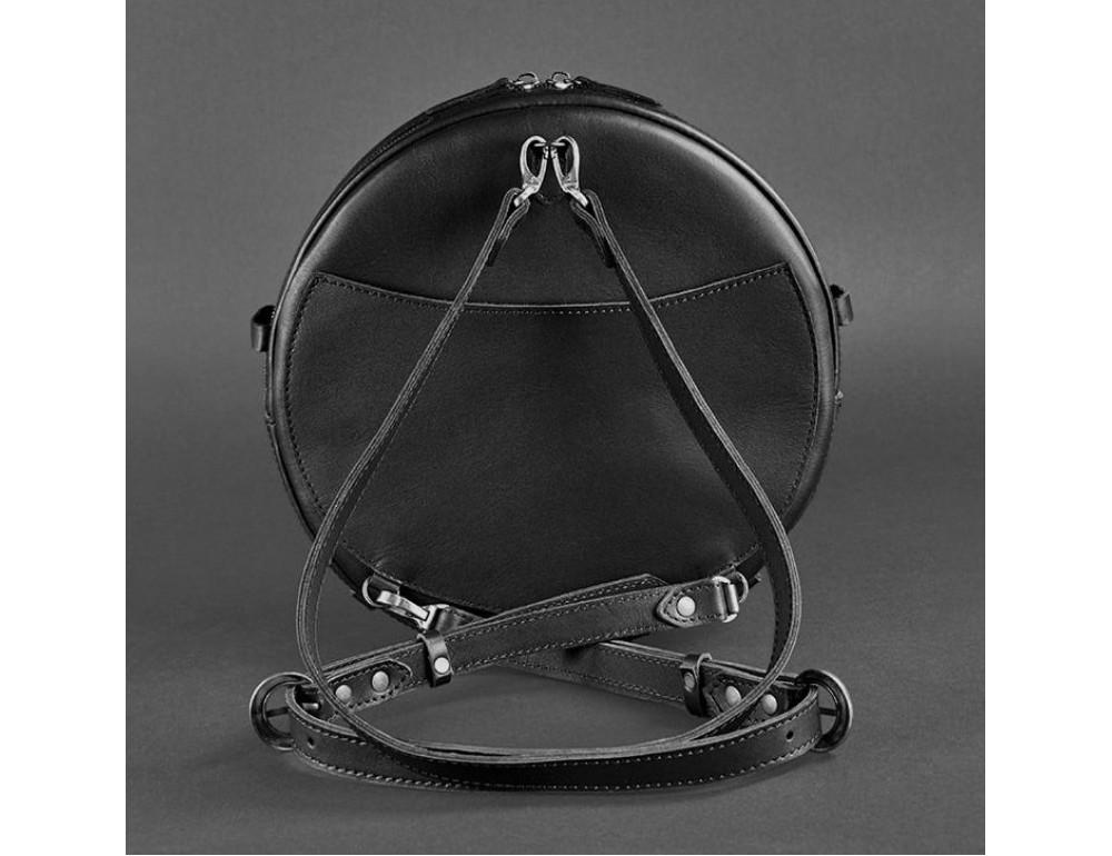 Круглая сумка-рюкзак maxi blanknote BN-BAG-30-g графит - Фото № 8