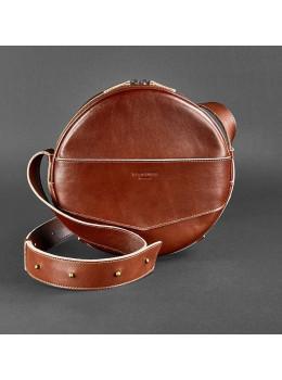 Круглая сумка-рюкзак maxi blanknote BN-BAG-30-k Коньяк