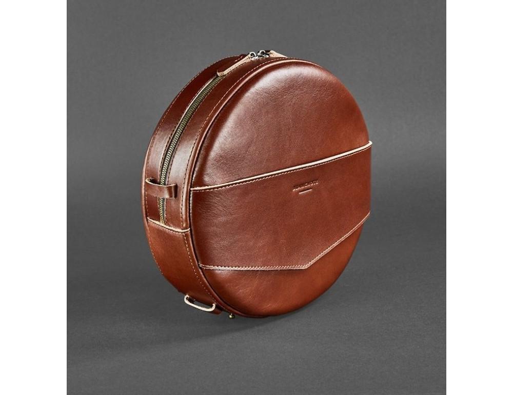 Круглая сумка-рюкзак maxi blanknote BN-BAG-30-k Коньяк  - Фото № 6