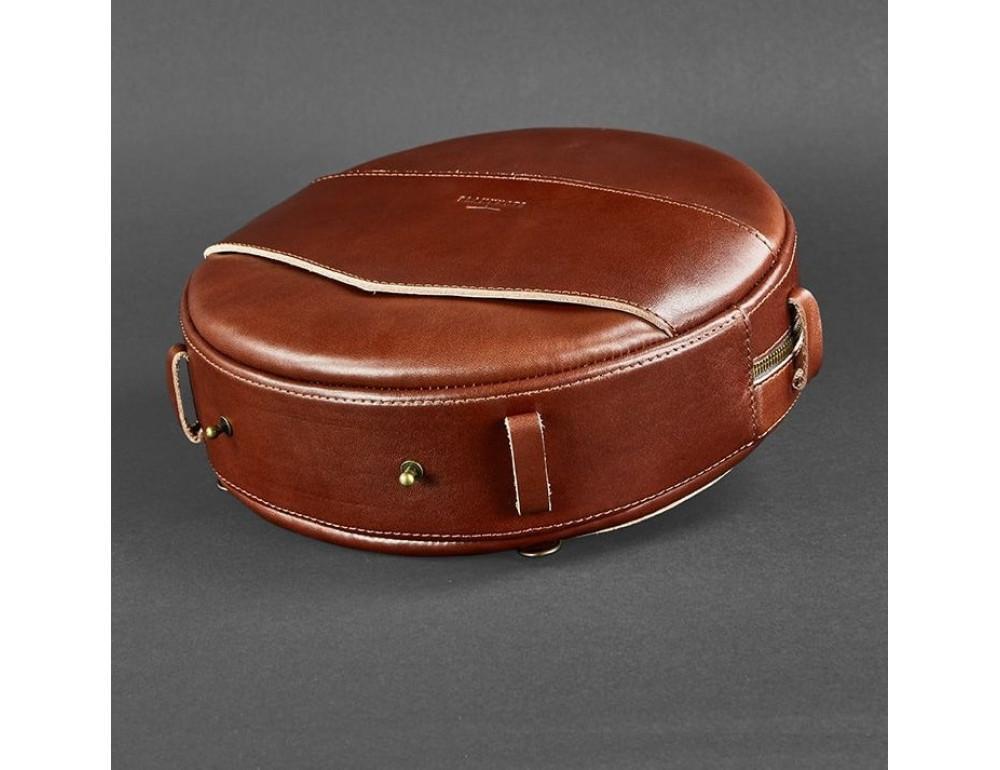 Круглая сумка-рюкзак maxi blanknote BN-BAG-30-k Коньяк  - Фото № 7