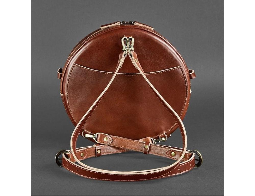 Круглая сумка-рюкзак maxi blanknote BN-BAG-30-k Коньяк  - Фото № 8