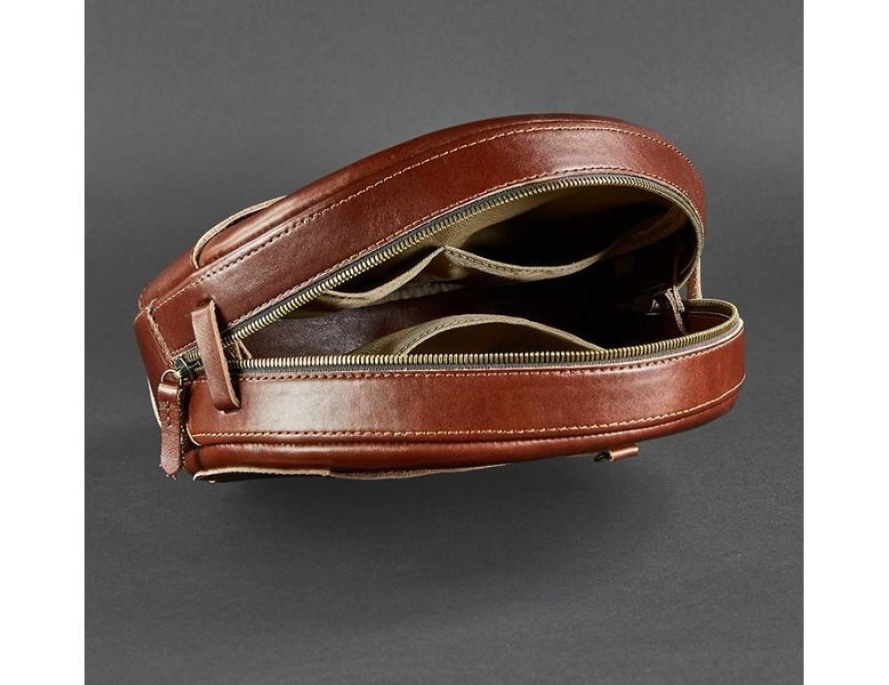 Круглая сумка-рюкзак maxi blanknote BN-BAG-30-k Коньяк  - Фото № 9