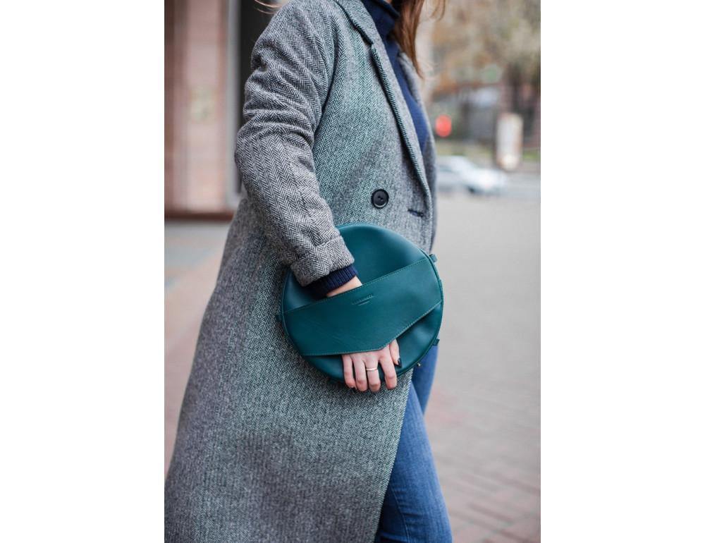 Круглая сумка-рюкзак maxi blanknote BN-BAG-30-malachite зелёный - Фото № 2