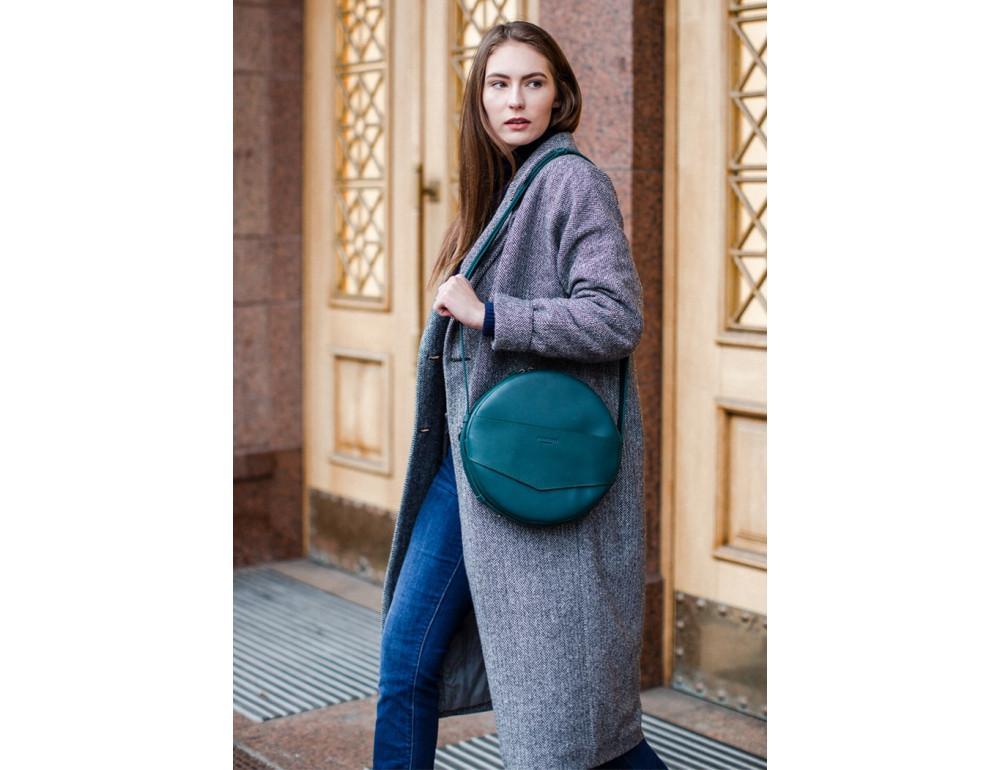 Круглая сумка-рюкзак maxi blanknote BN-BAG-30-malachite зелёный - Фото № 3