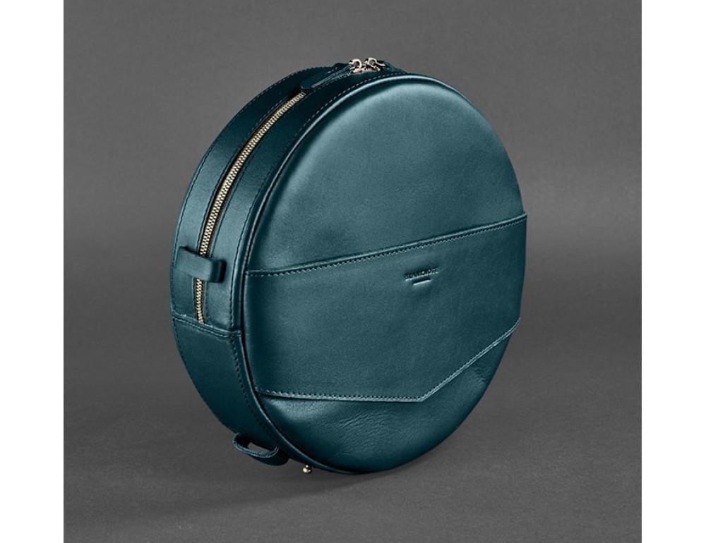 Круглая сумка-рюкзак maxi blanknote BN-BAG-30-malachite зелёный - Фото № 5