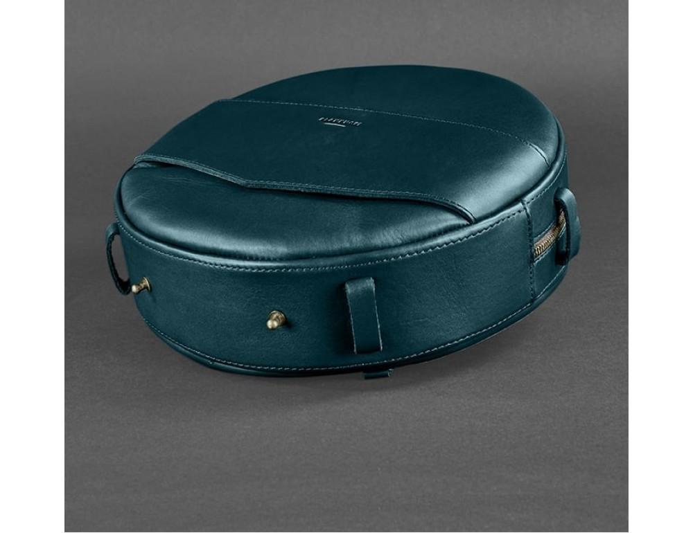 Круглая сумка-рюкзак maxi blanknote BN-BAG-30-malachite зелёный - Фото № 6