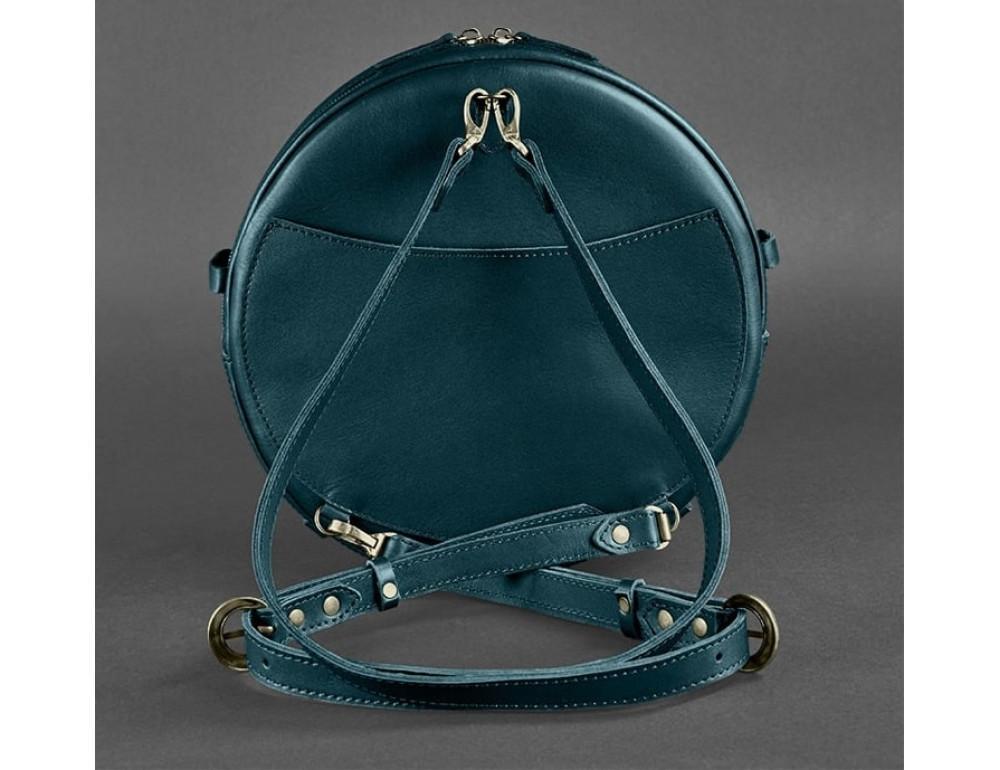 Круглая сумка-рюкзак maxi blanknote BN-BAG-30-malachite зелёный - Фото № 7