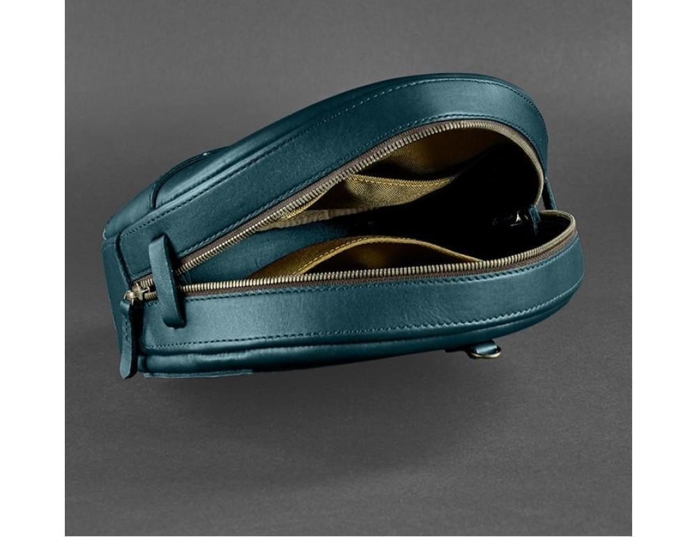 Круглая сумка-рюкзак maxi blanknote BN-BAG-30-malachite зелёный - Фото № 8