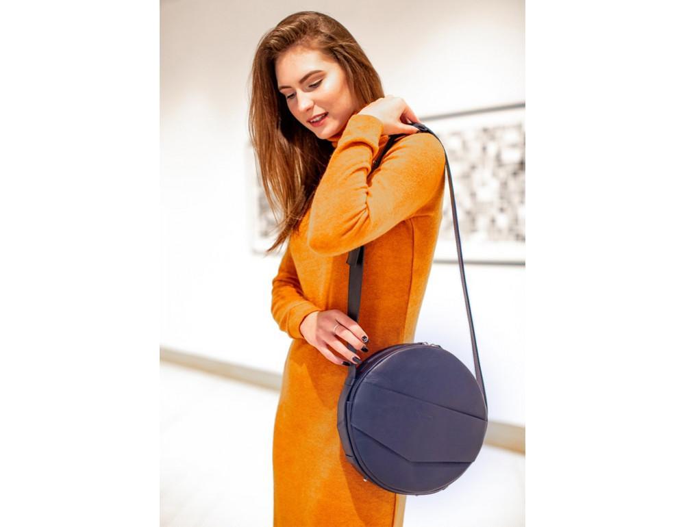 Круглая сумка-рюкзак maxi blanknote BN-BAG-30-navy-blue тёмно-синяя - Фото № 2