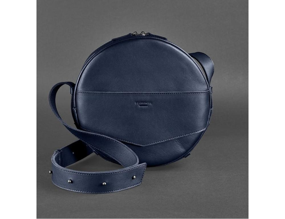 Круглая сумка-рюкзак maxi blanknote BN-BAG-30-navy-blue тёмно-синяя - Фото № 1