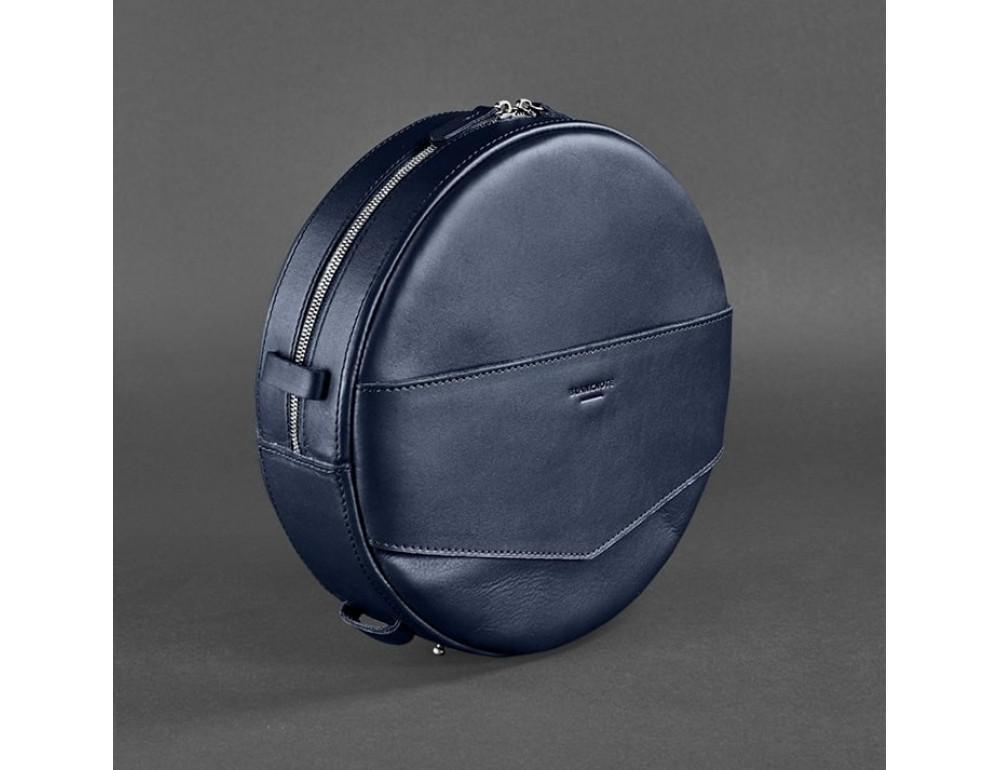Круглая сумка-рюкзак maxi blanknote BN-BAG-30-navy-blue тёмно-синяя - Фото № 3