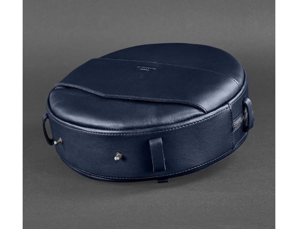 Круглая сумка-рюкзак maxi blanknote BN-BAG-30-navy-blue тёмно-синяя - Фото № 4