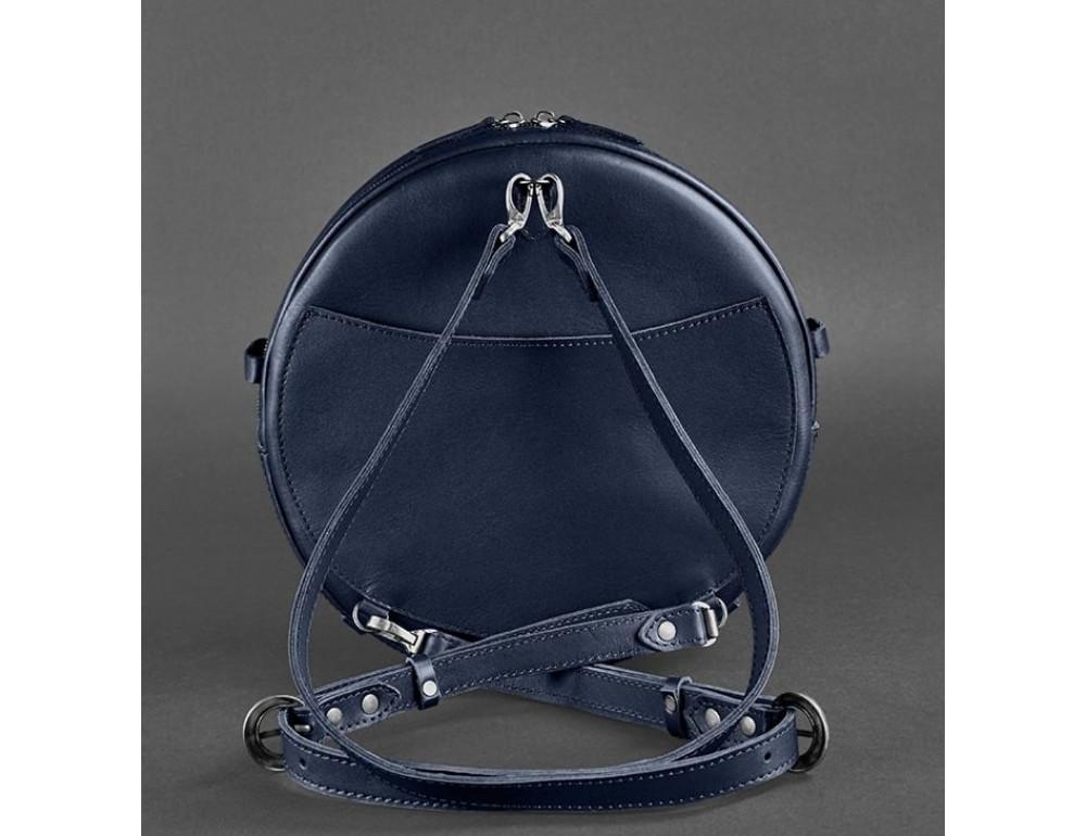 Круглая сумка-рюкзак maxi blanknote BN-BAG-30-navy-blue тёмно-синяя - Фото № 5