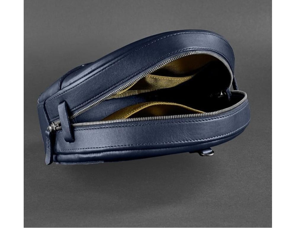 Круглая сумка-рюкзак maxi blanknote BN-BAG-30-navy-blue тёмно-синяя - Фото № 6