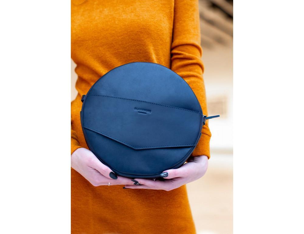 Круглая сумка-рюкзак maxi blanknote BN-BAG-30-navy-blue тёмно-синяя - Фото № 7