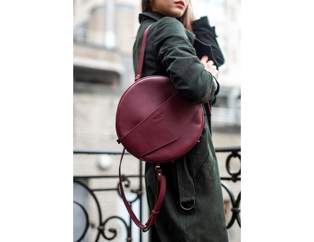 Круглая сумка-рюкзак maxi blanknote BN-BAG-30-vin виноград - Фото № 2