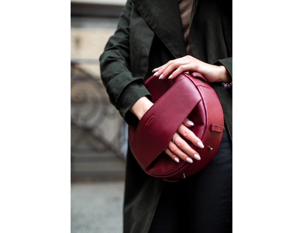 Круглая сумка-рюкзак maxi blanknote BN-BAG-30-vin виноград - Фото № 3