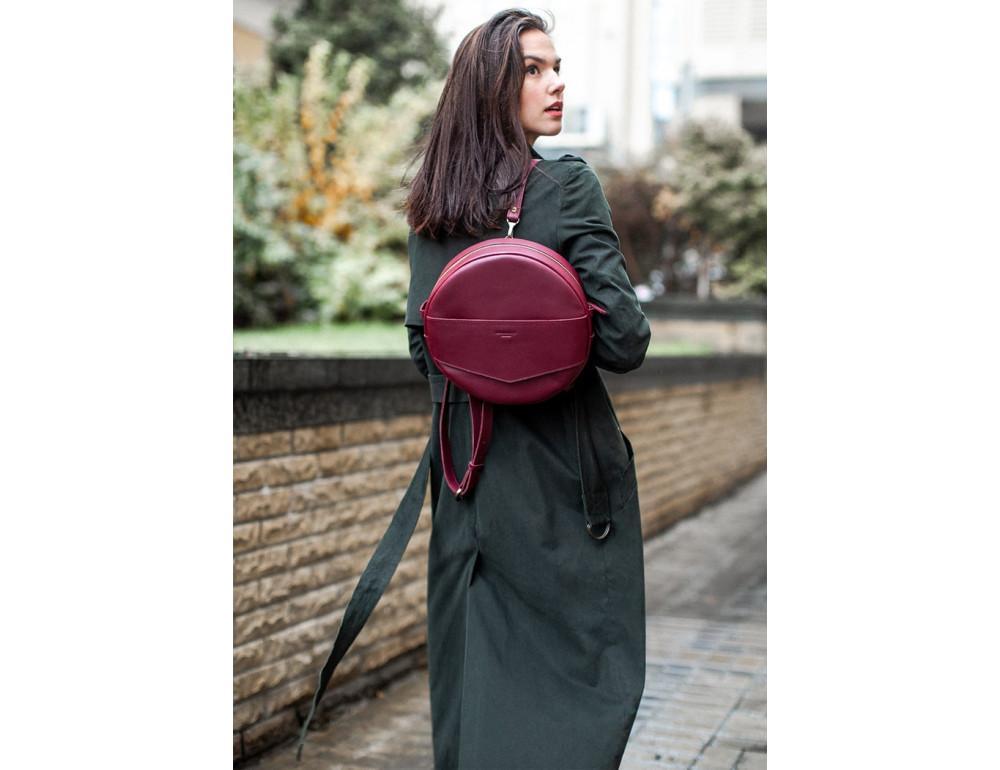 Круглая сумка-рюкзак maxi blanknote BN-BAG-30-vin виноград - Фото № 4