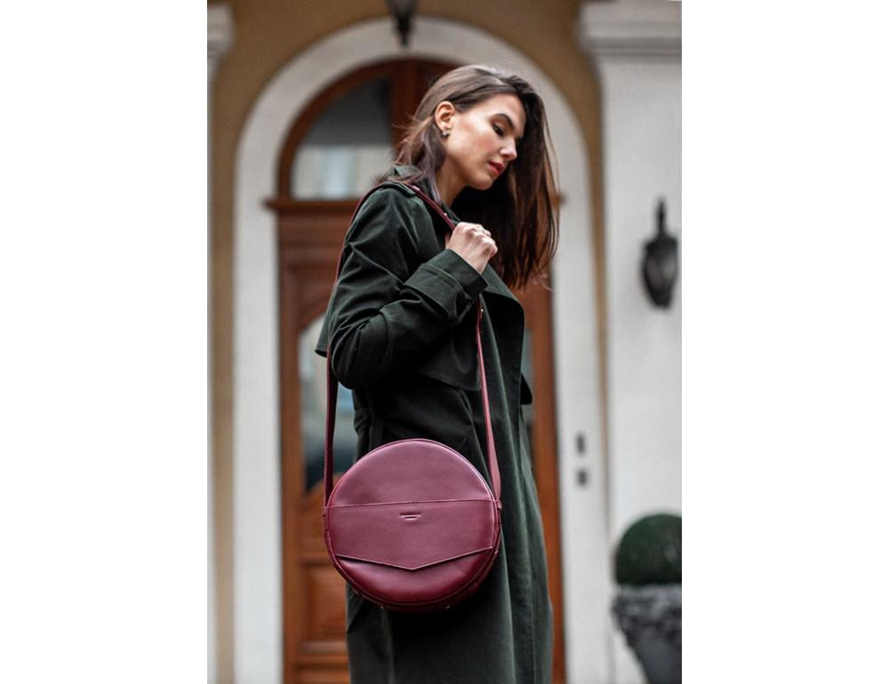 Круглая сумка-рюкзак maxi blanknote BN-BAG-30-vin виноград - Фото № 5