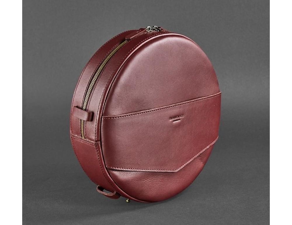 Круглая сумка-рюкзак maxi blanknote BN-BAG-30-vin виноград - Фото № 7