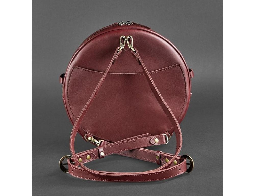 Круглая сумка-рюкзак maxi blanknote BN-BAG-30-vin виноград - Фото № 8