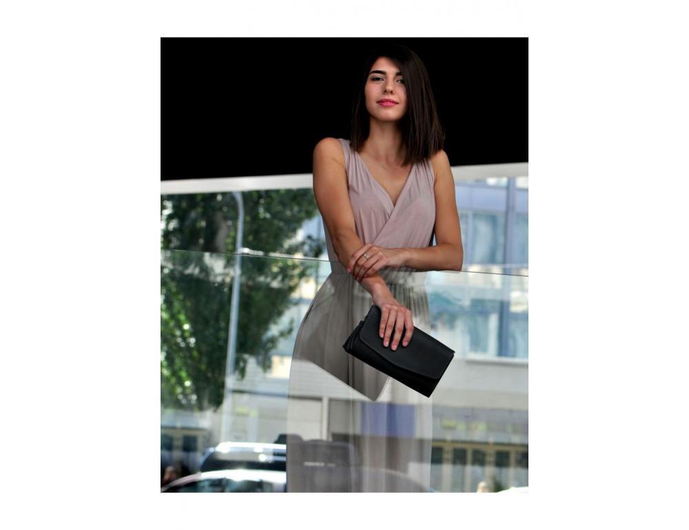 Кожаный клатч Элис blanknote BN-BAG-7-g графитовый - Фото № 3