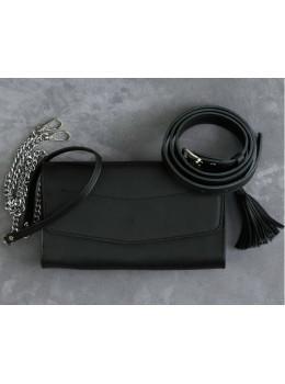 Кожаный клатч Элис blanknote BN-BAG-7-g графитовый