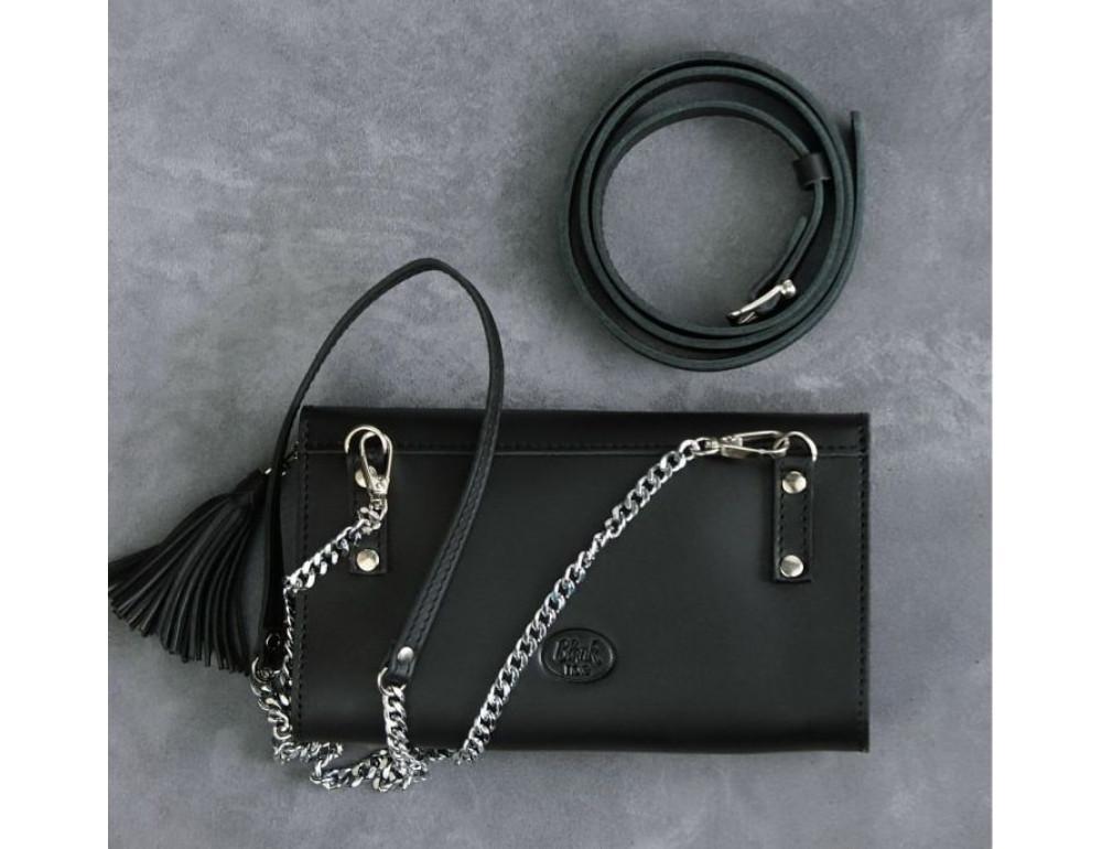 Кожаный клатч Элис blanknote BN-BAG-7-g графитовый - Фото № 7
