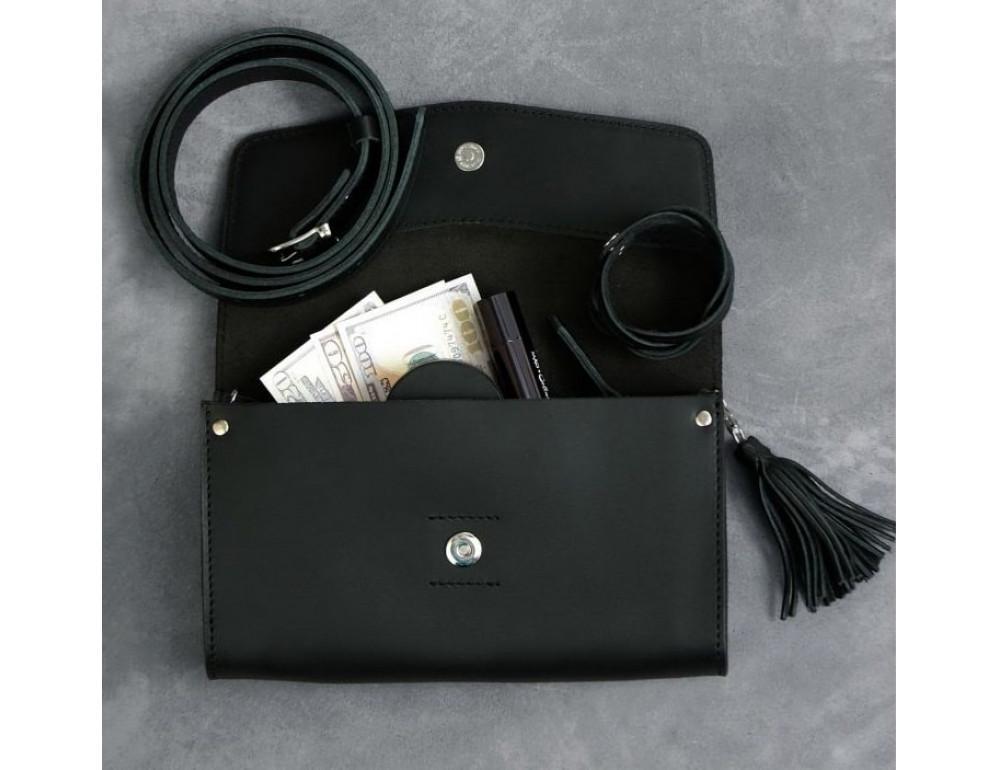 Кожаный клатч Элис blanknote BN-BAG-7-g графитовый - Фото № 8
